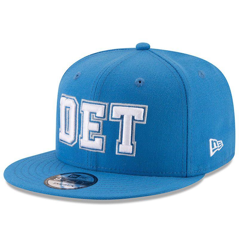 7094a115d1e Detroit Lions New Era Home Turf 9FIFTY Adjustable Snapback Hat - Blue