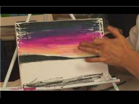 Oil Pastel Techniques : Using Pastels on Canvas - YouTube