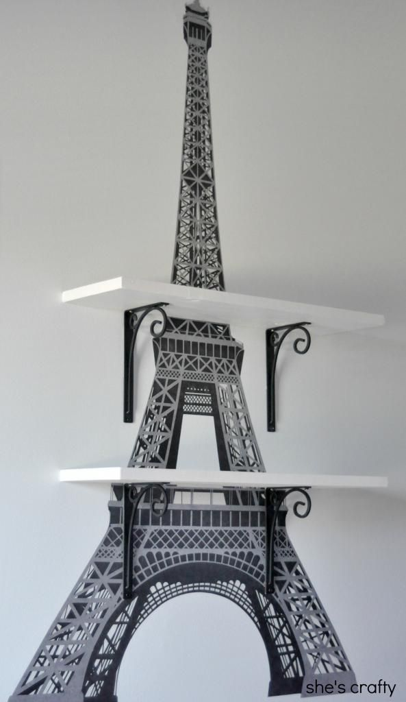Sheu0027s Crafty: Eiffel Tower Shelves. Paris Bedroom DecorParis ...