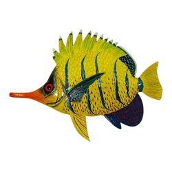 Needle Nose Tropical Fish Tiki Sea Life Wall Decor Orange and Yellow