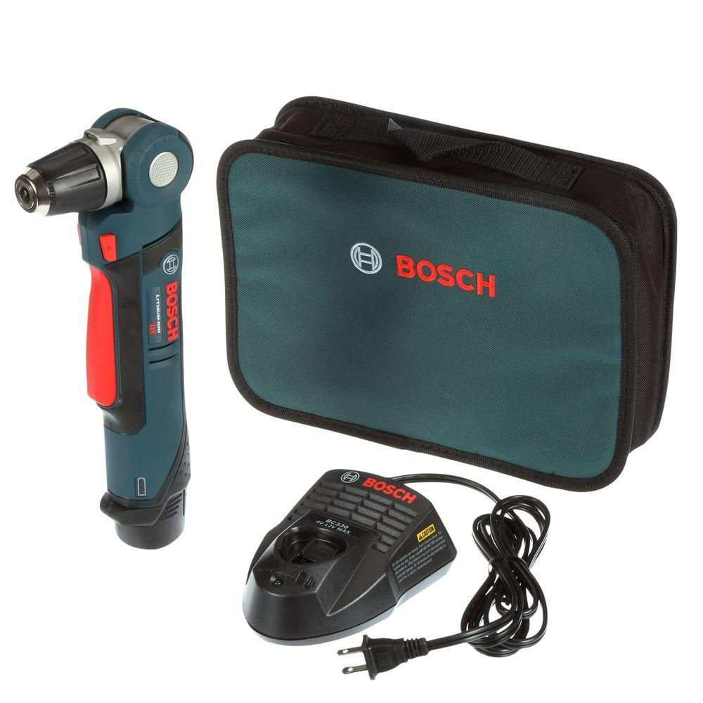 Bosch 12 Volt Lithium-Ion Cordless Electric 3/8 in. Variable Speed Right Angle Drill/Driver Kit with 2.0Ah Battery and Charger