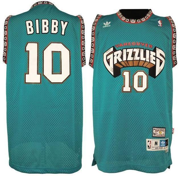 1868b59cff72 Memphis Grizzlies  10 Mike Bibby Hardwood Classics Swingman Jersey ...