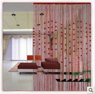 ... directly from China curtain l& Suppliers Hotsale string curtain with artifical flower  fashion door curtain single color string curtain & Flecos con dibujo #Decorar con flecos #Fringe string curtains Ideas ...