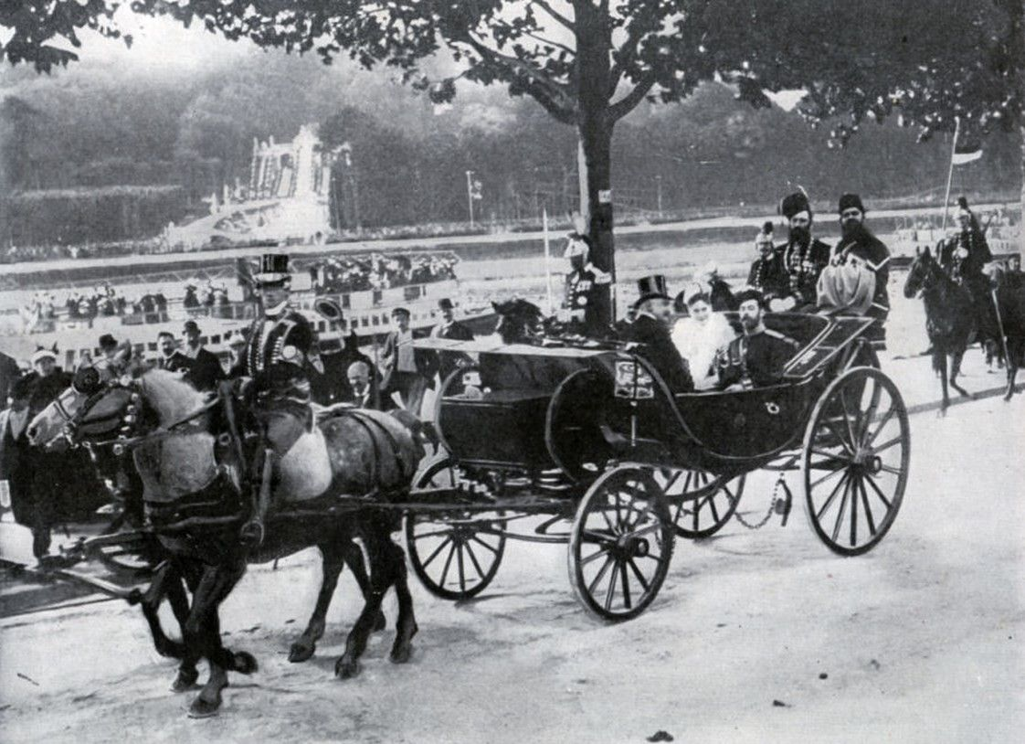 Nicholas and Alix - Paris - 1896.