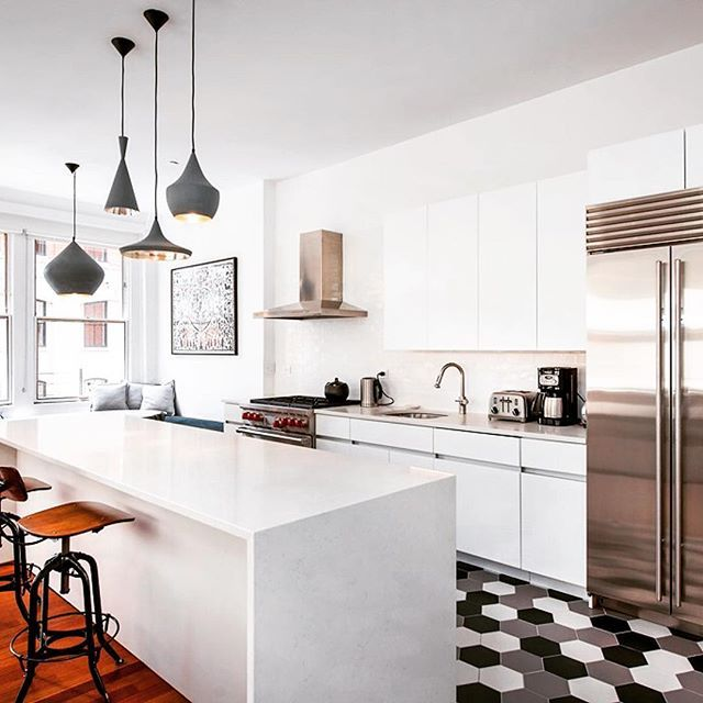 Kitchen Lighting Nyc: Frosty Carrina Meets Funky-fresh Floors In NYC With My