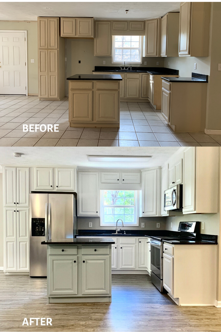 How To Reconfigure And Paint Existing Kitchen Cabinets Clean