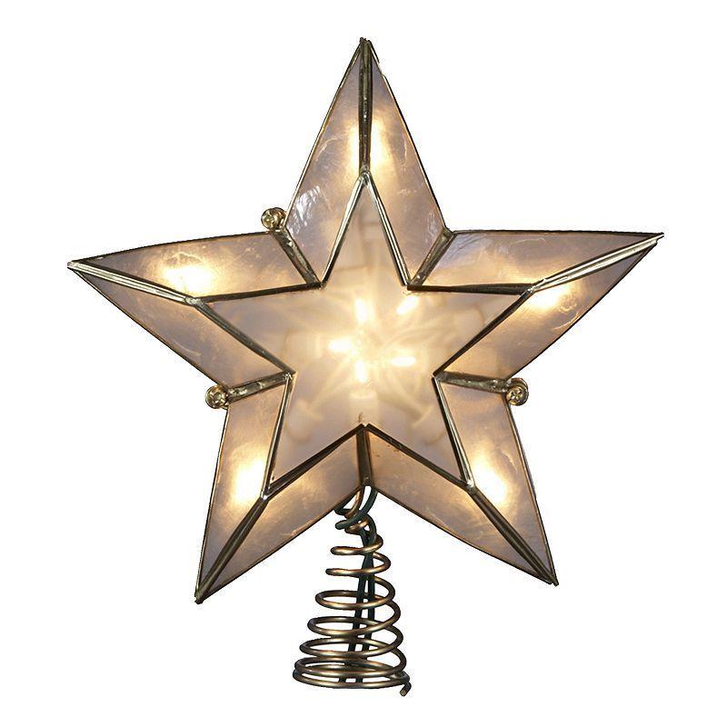 Kurt Adler 8 1/2-in. LED Capiz Shell Star Christmas Tree Topper, Multicolor