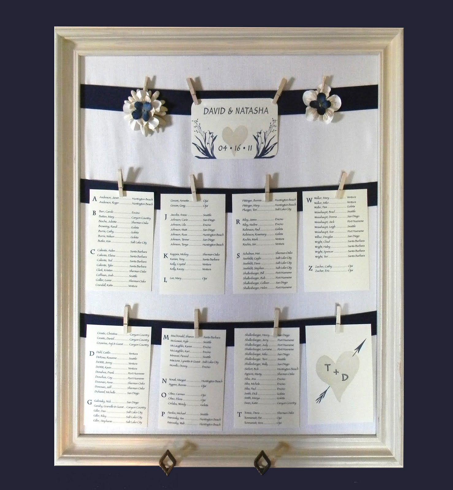 diy weddings wedding table assignmentswedding