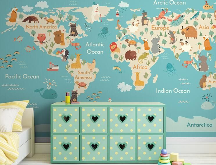 Find More Wallpapers Information About 3d World Map Wall Paper Large