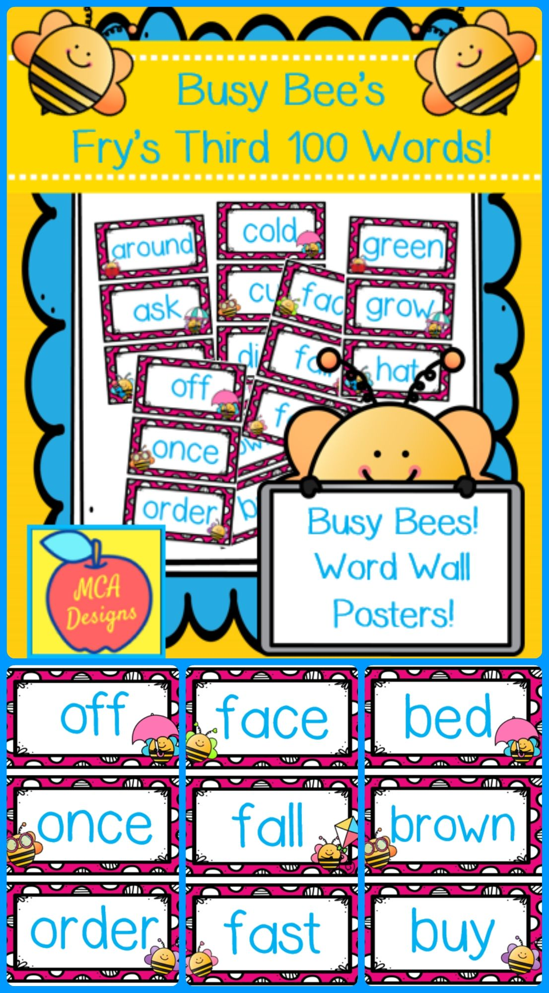 Busy Bees Fry S Third 100 Words