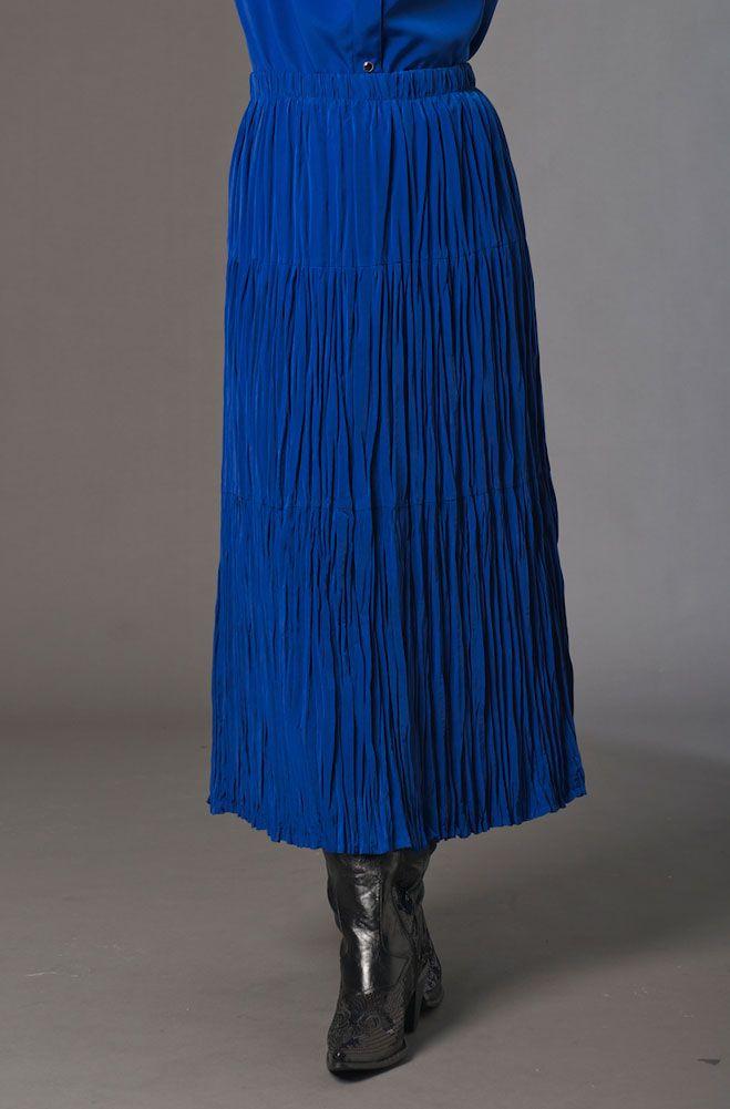 6aa030138cb Royal Blue Broomstick Western Skirt.  6037RB