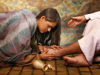 Reflexiones para el alma: Tomándose un tiempo....a los pies de Jesús