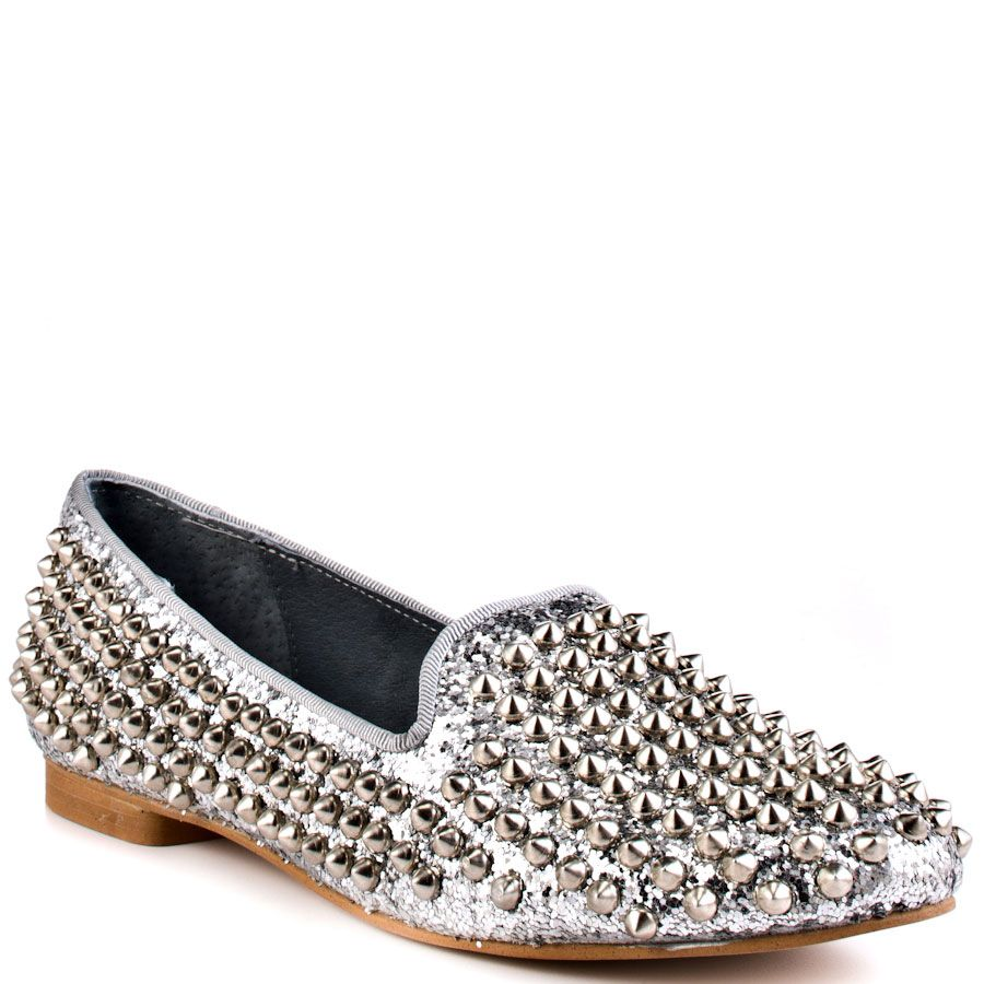 be3519956c2 Steve Madden Women's Studlyy - Silver Stud | Shoes! | Studded flats ...