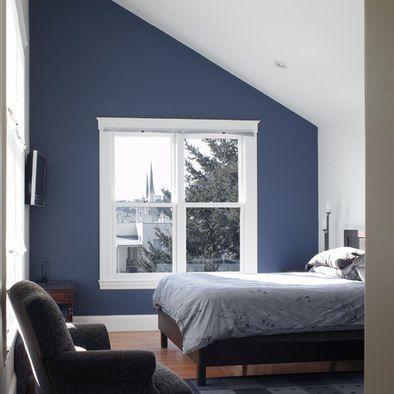 Slanted Ceiling Design Ideas Pictures Remodel And Decor Blue Bedroom Walls Blue Bedroom Decor Blue Bedroom