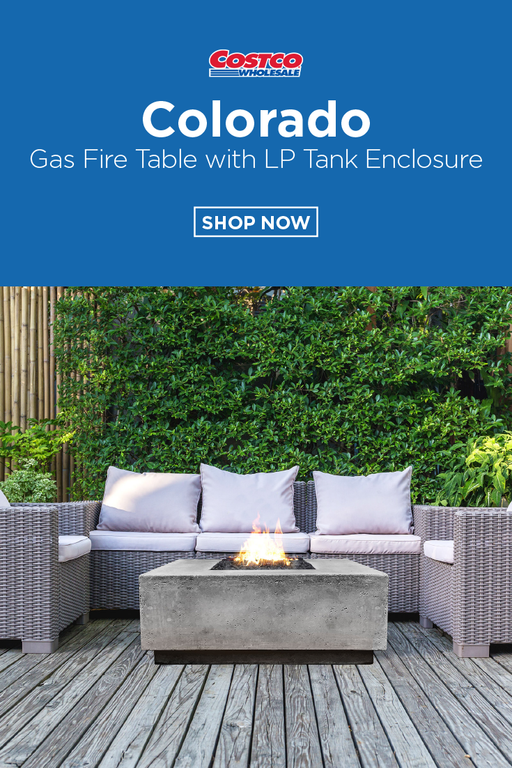 Colorado Gas Fire Table With Lp Tank Enclosure Gas Fire