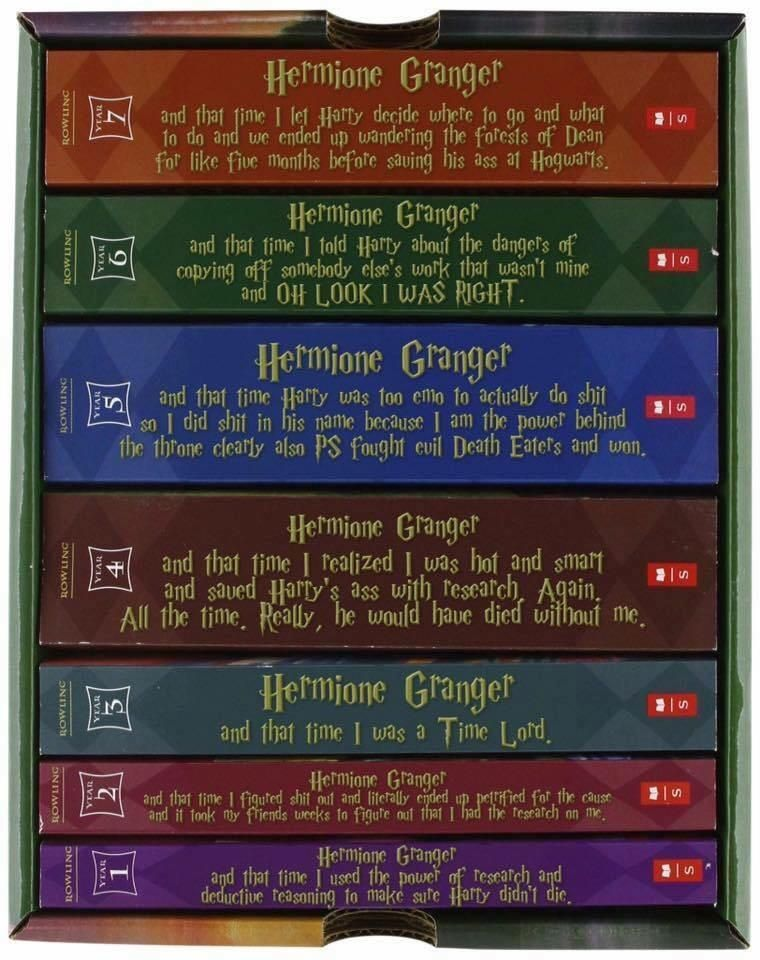 Harry Potter Titles From Hermione S Point Of View Funny Post Harry Potter Titles Harry Potter Universal Hermione Granger