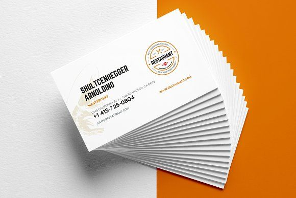 Restaurant Business Card Templates Restaurant Business Cards