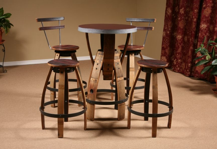 Not Crazy About The Table But Love Wine Barrell Bar Stools Jessy