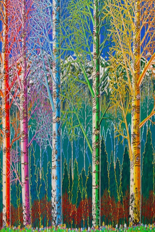 """Aspen Rainbow"" painted by Madison McCalley."