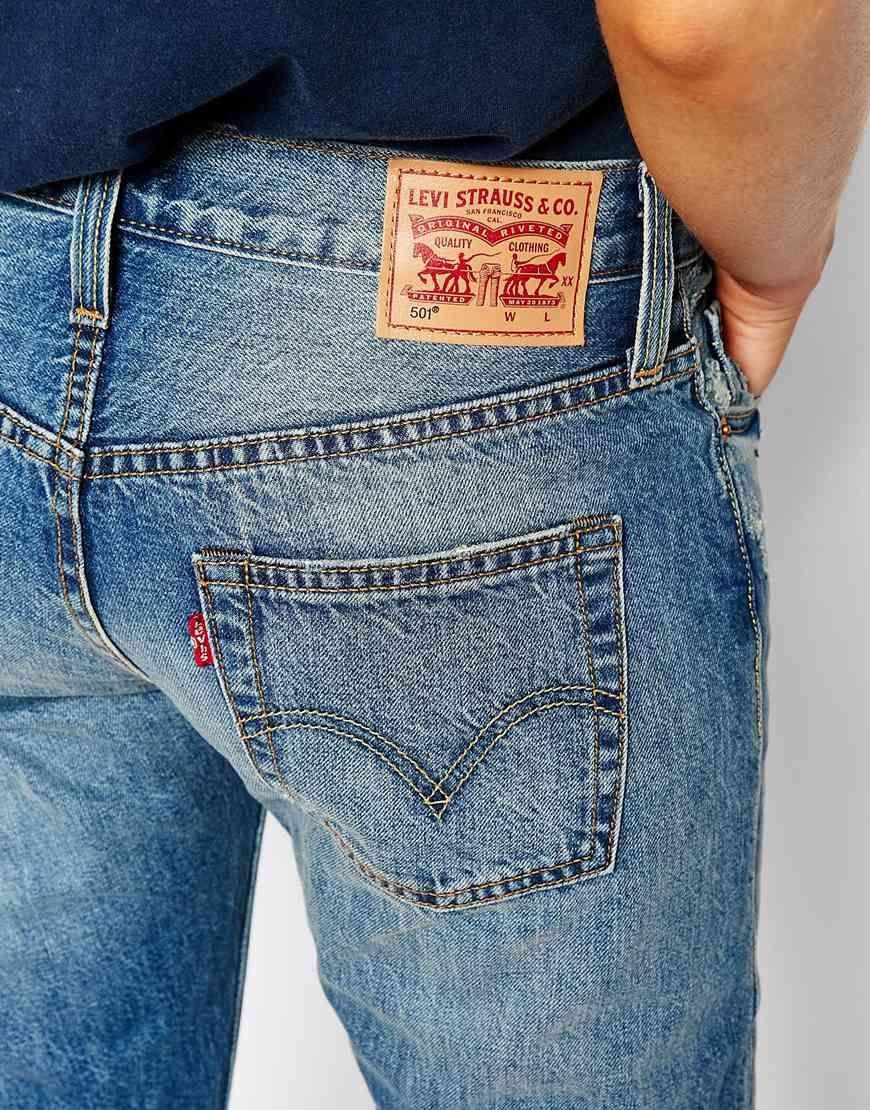 Image 4 of Levi's 501 Boyfriend Jeans In Vintage Wash   La ...