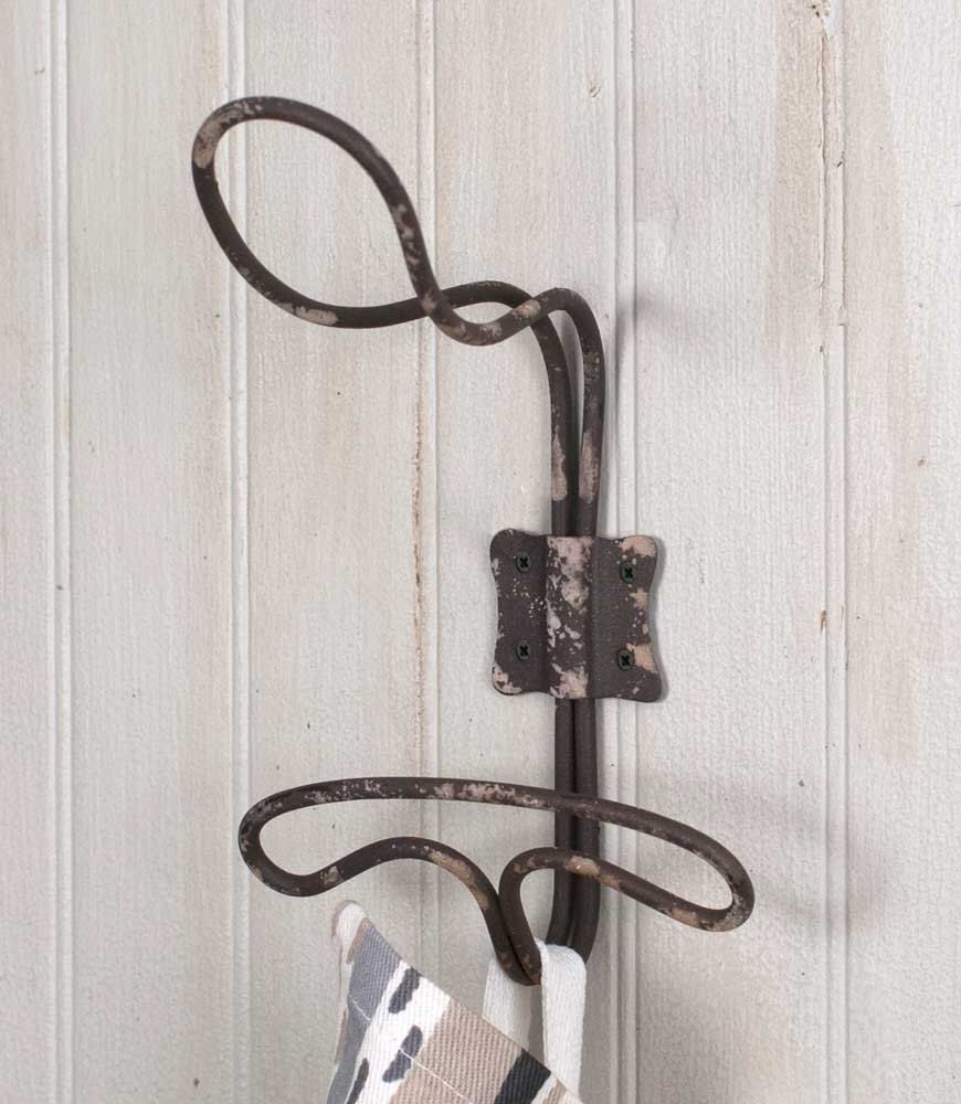 Vintage Inspired Wired Twisted Hook|Rustic Wired Hook|Primitive Wall ...