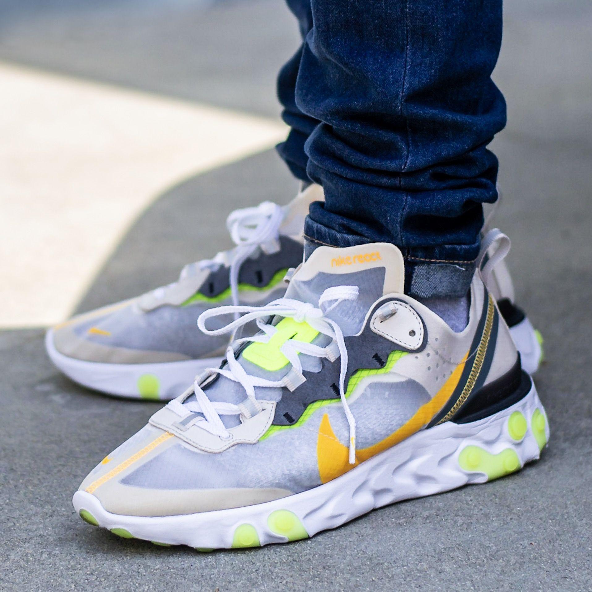 Nike React Element 87 Light Orewood On Feet Sneaker Review
