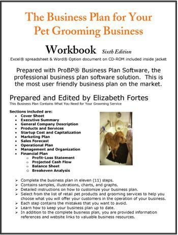 The Business Plan for Your Pet Grooming Service #daycarebusinessplan - business plan excel spreadsheet