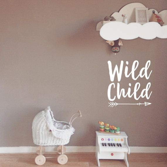Wall Decal Wild Child Wall Quote Wanderlust Decal Boho Wall Decal Quote : baby wall decals quotes - www.pureclipart.com