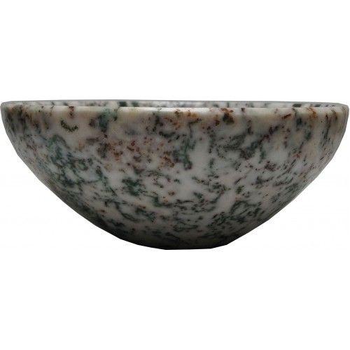 Aldomin Tree Agate Healing Crystal Bowl (73 Gram)