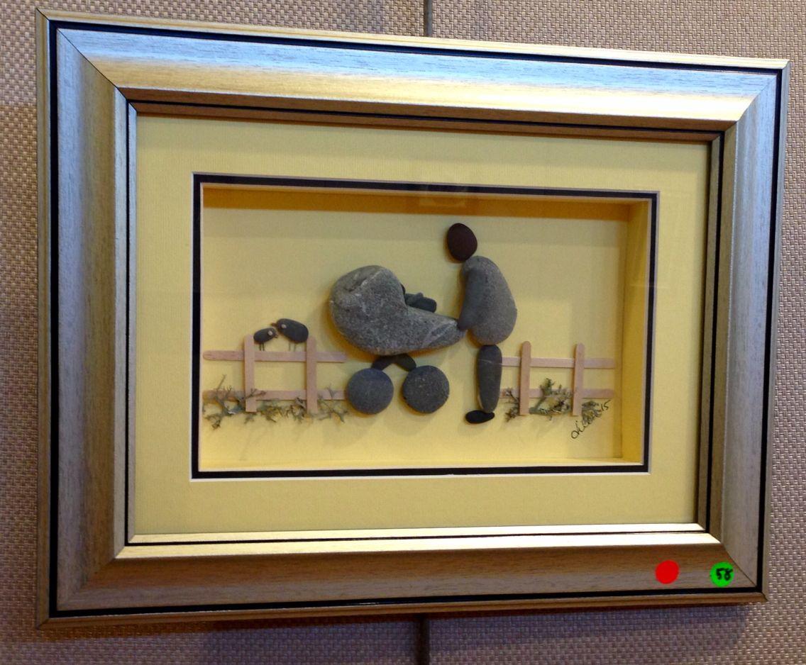 Bebeğim ...dilekemek   Pebble art 1   Pinterest   Pebble art, Rock ...