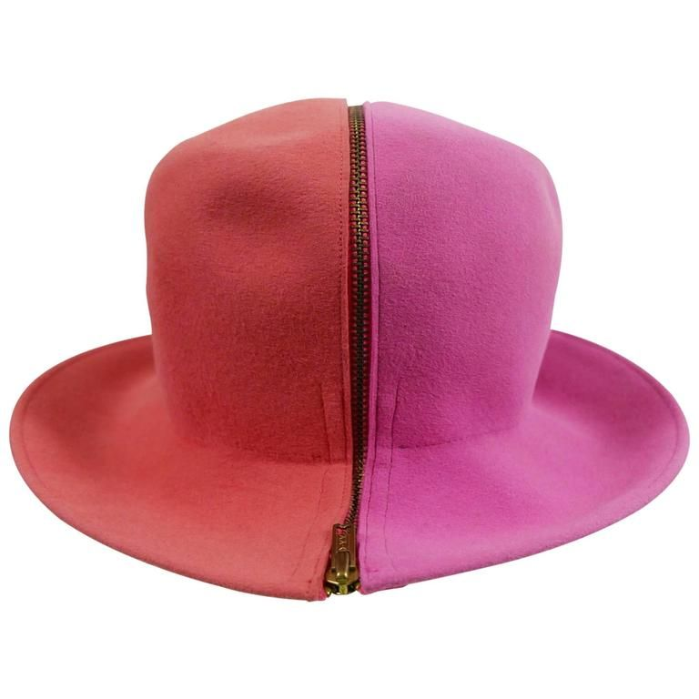 33c432c0b8e Yves Saint Laurent Museum Quality Zippered Felt Hat. Mod. 1960's in 2019 |  Vintage Mod Madness | Yves saint laurent, Red fedora hat, Hats