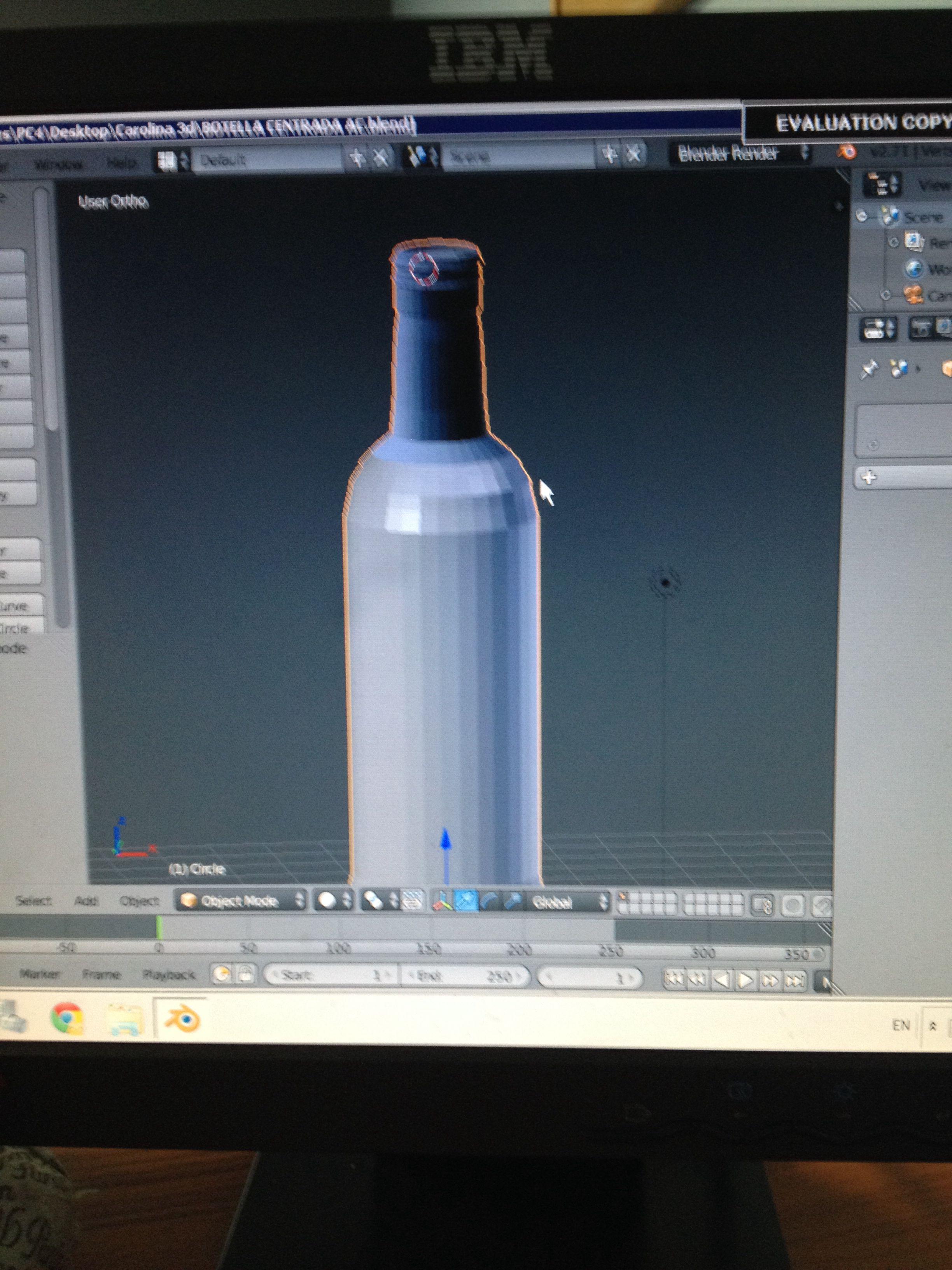 Creando mi primera botella con textura en blender