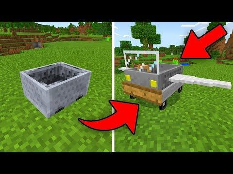 How To Make An Minecart Drill In Minecraft Youtube Minecraft