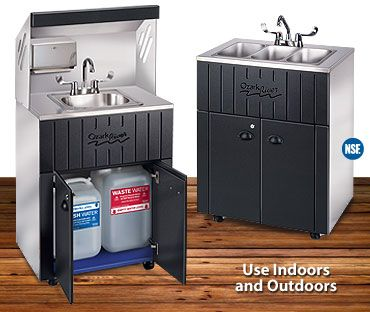 portable sink with hot and cold water