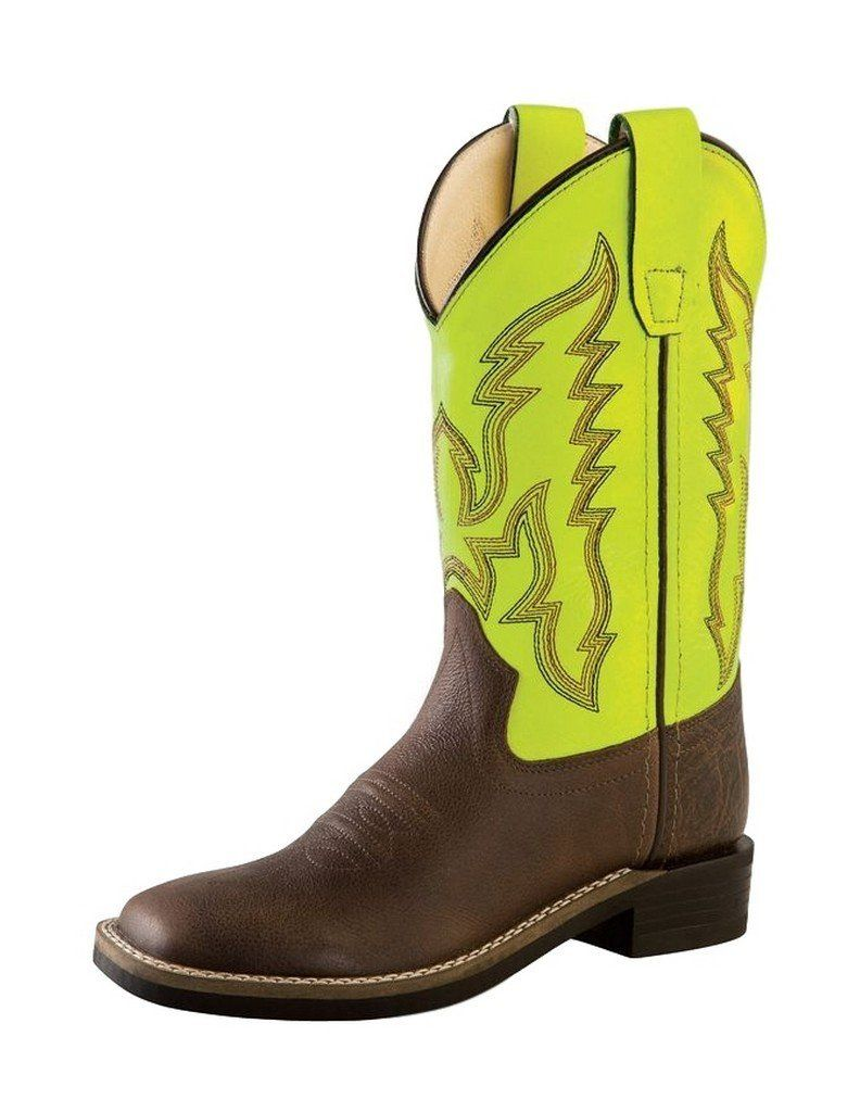 Boy haircuts 7 year old old west cowboy boots boys girls kids tpr  youth brown green
