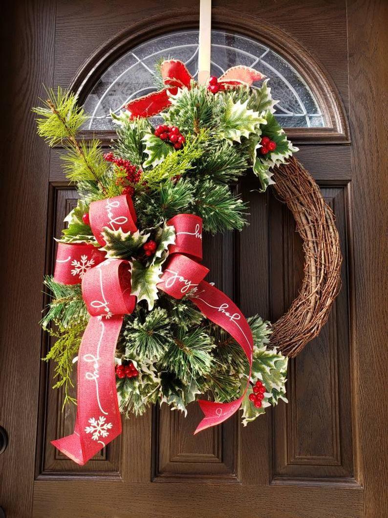 Xmas Wreaths Farmhouse Christmas Wreath Country Wreath