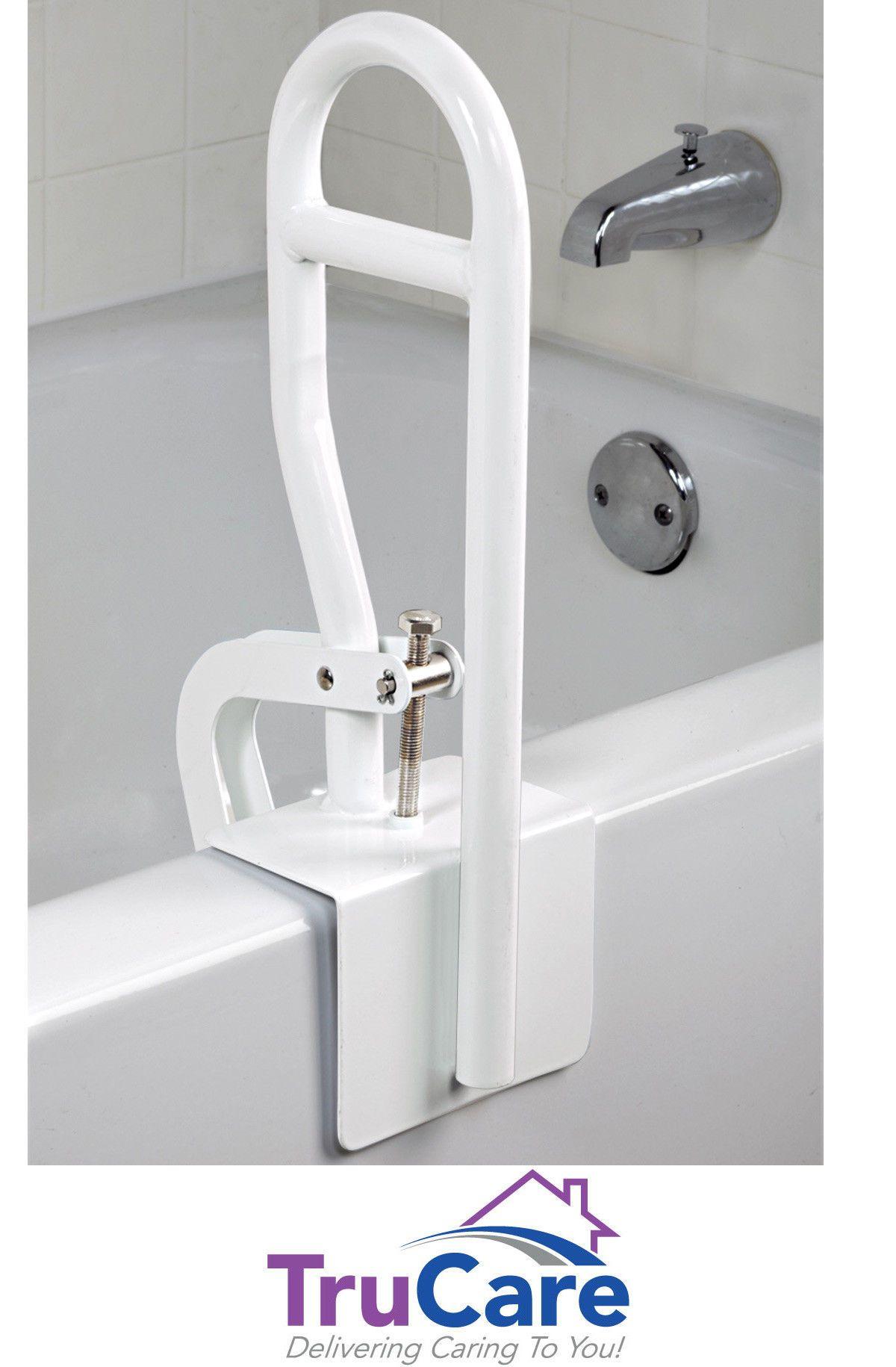 Bath Safety Bar Bathtub Rail Grab White Bathroom Shower Handle Tub ...