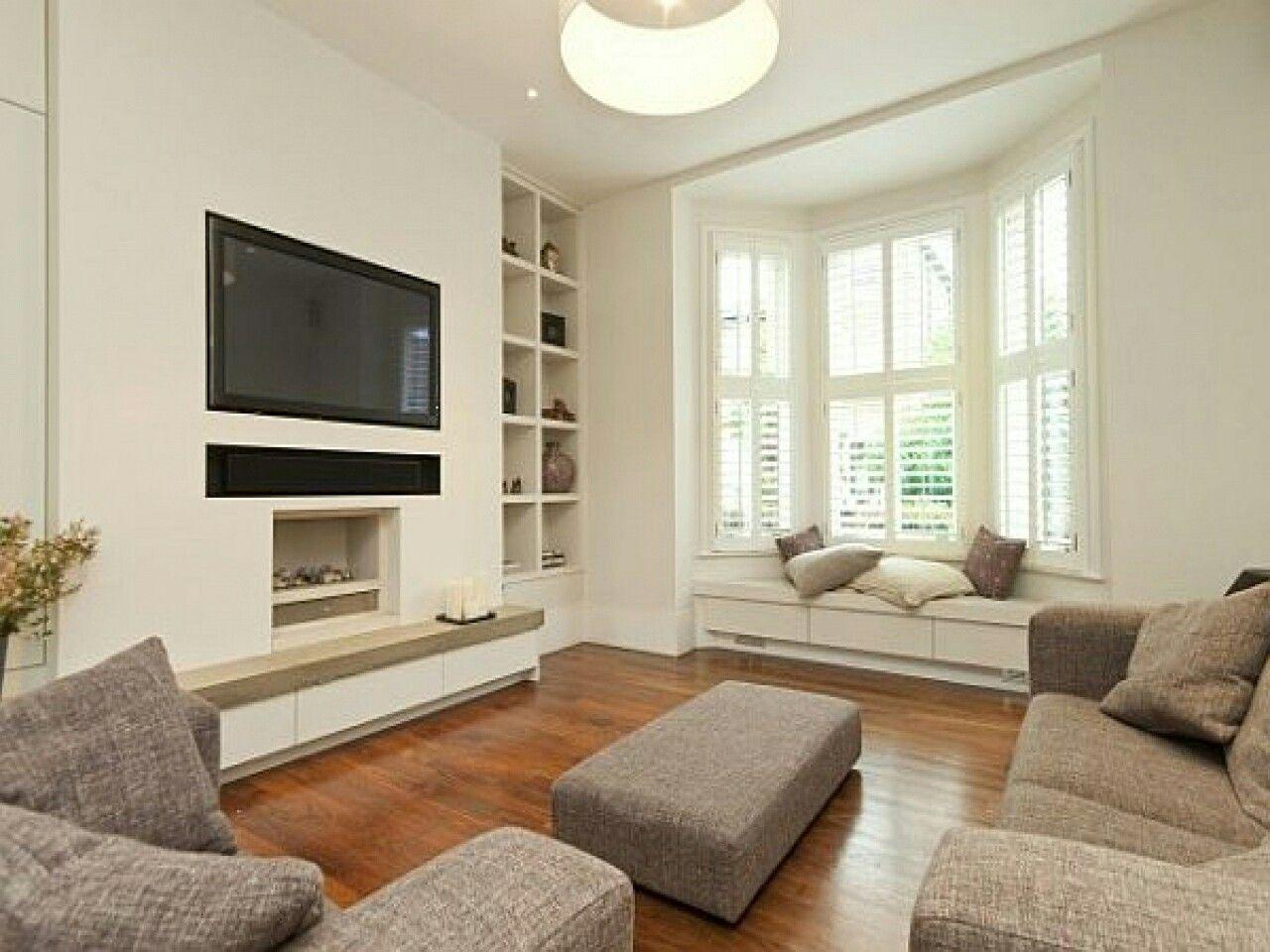 Lounge ideas | Bay window living room, Livingroom layout ...