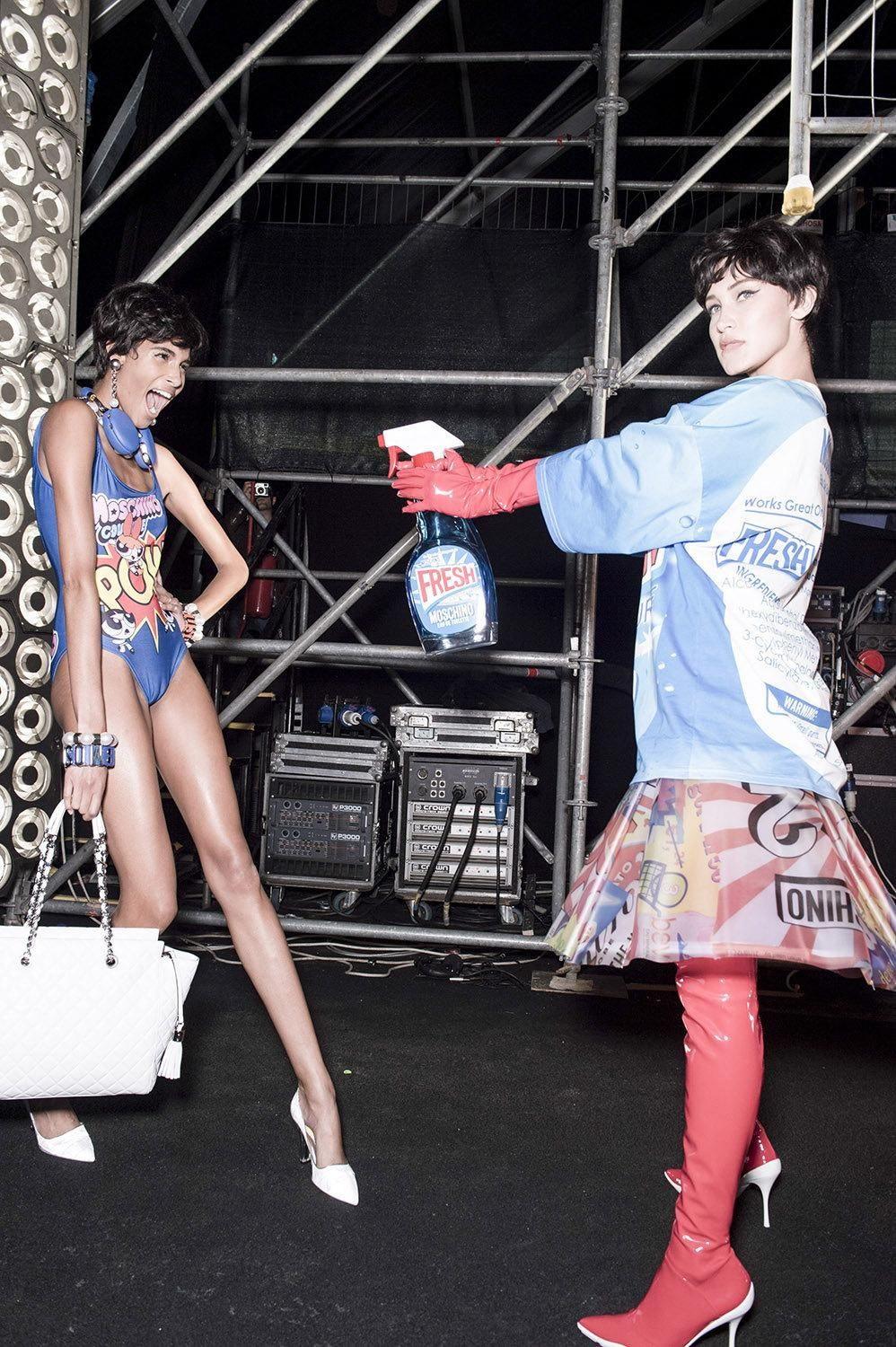 moschino's car wash couture for spring/summer 16 | read | i-D