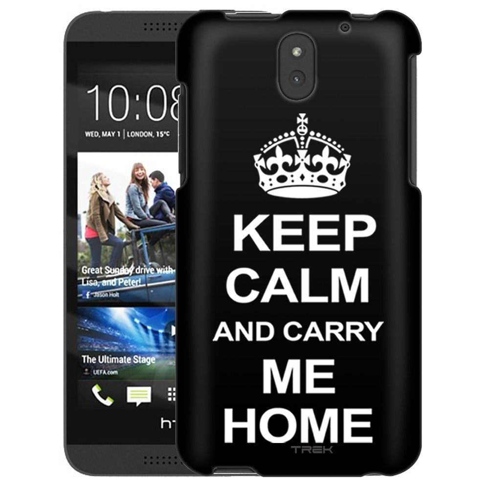 HTC Desire 610 KEEP CALM and Carry Me Home on Black Slim Case