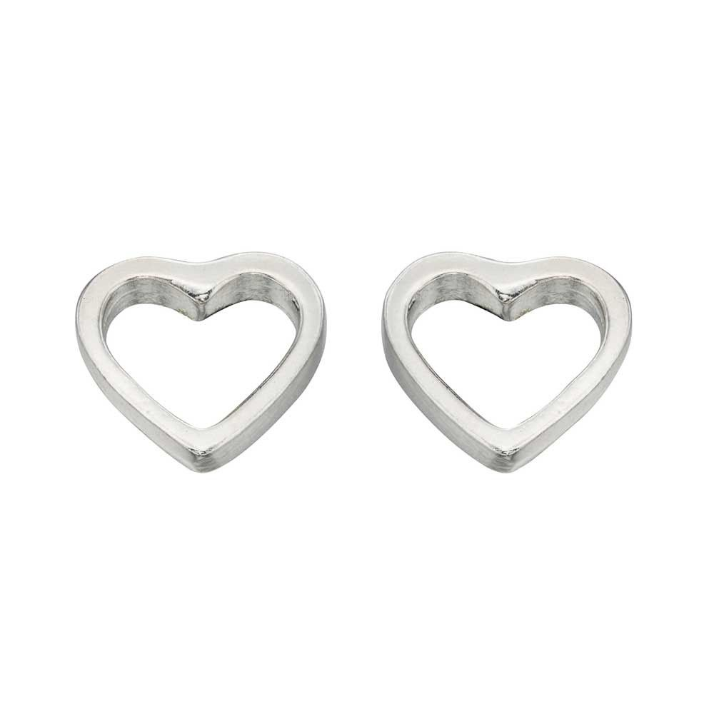 Silver Kids Small Open Heart Studs A355 | Pinterest | Jewel ...