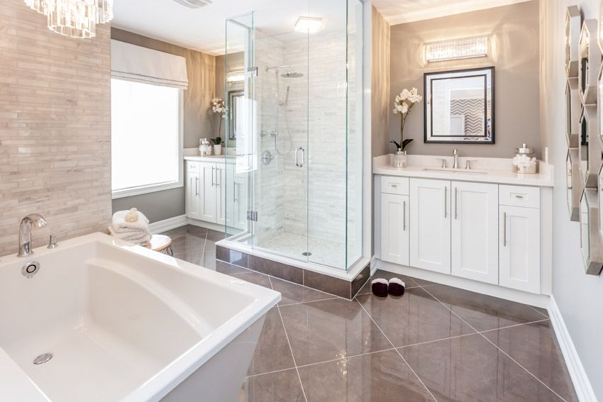 137 Bathroom Design Ideas Pictures Of Tubs Showers Bathroom Design Modern White Bathroom White Bathroom Decor