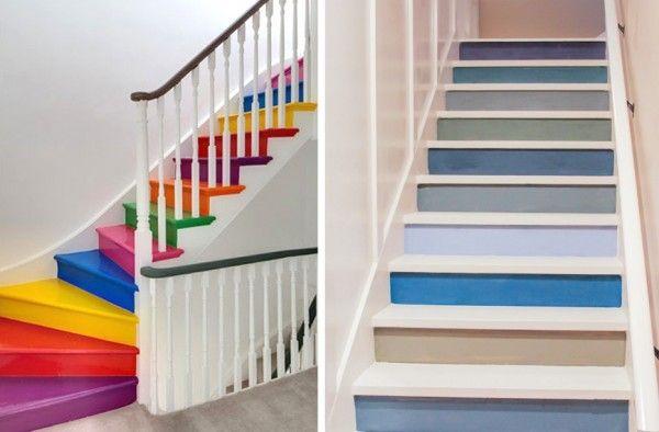 Escaleras Pintadas Escalones Pintados Decoracion De Paredes Pintadas