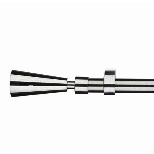 Kit de tringle à rideau Pommeau INSPIRE, diam. 19 mm, long. 120/210 cm, chromé
