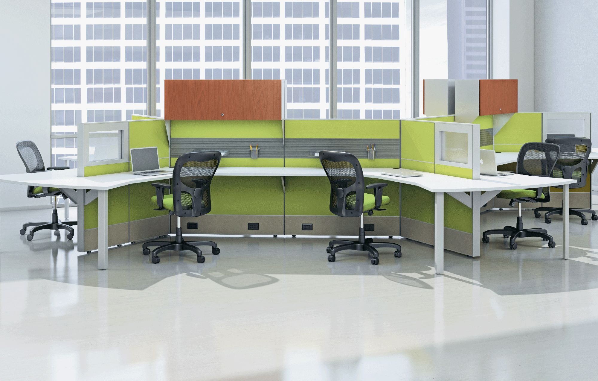 Lime Green Office Furniture Modern