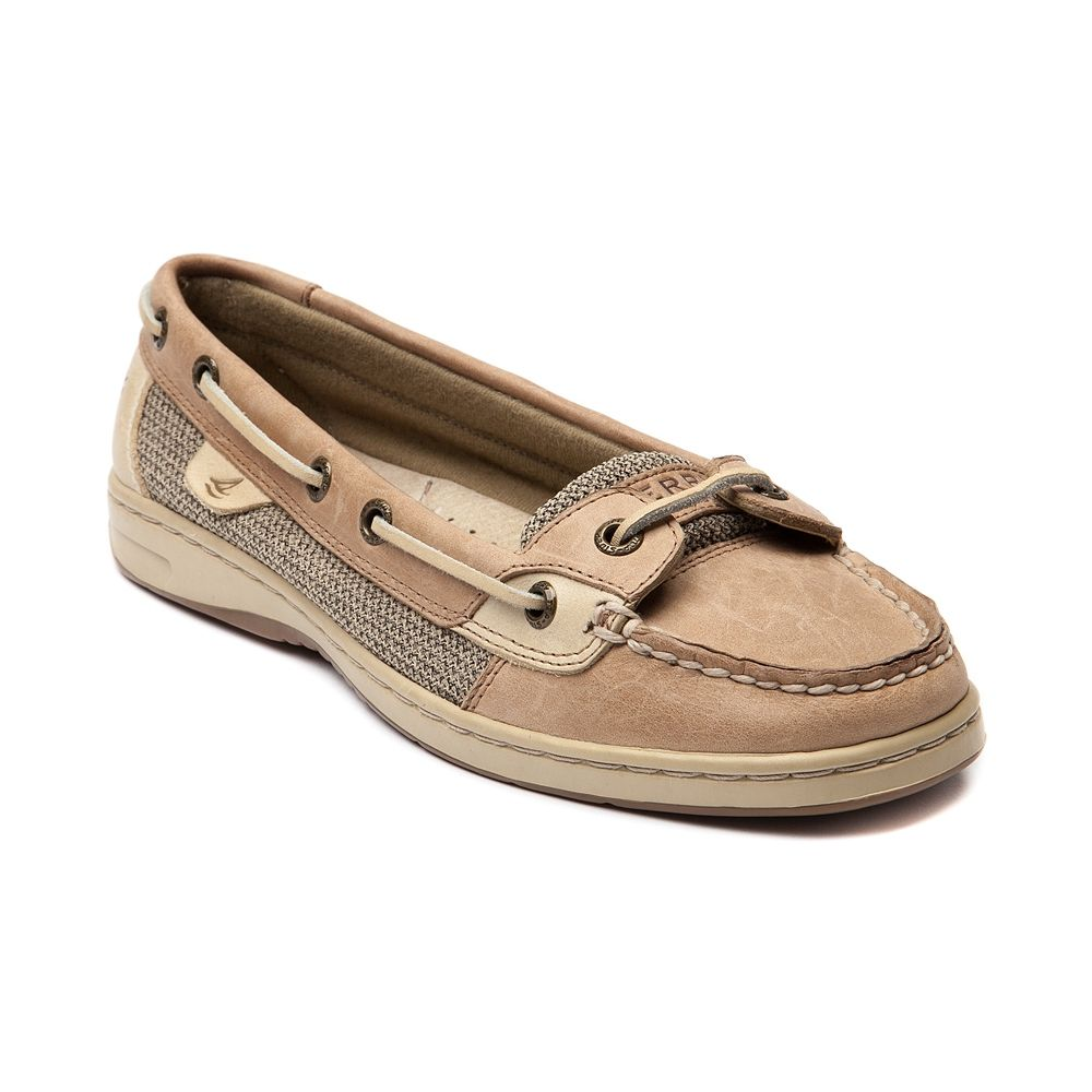 Shop for Womens Sperry Top-Sider Angelfish Boat Shoe, Tan, at Journeys Shoes.  Classic skimmer from Sperry featuring a leather upper with canvas accent,  ...