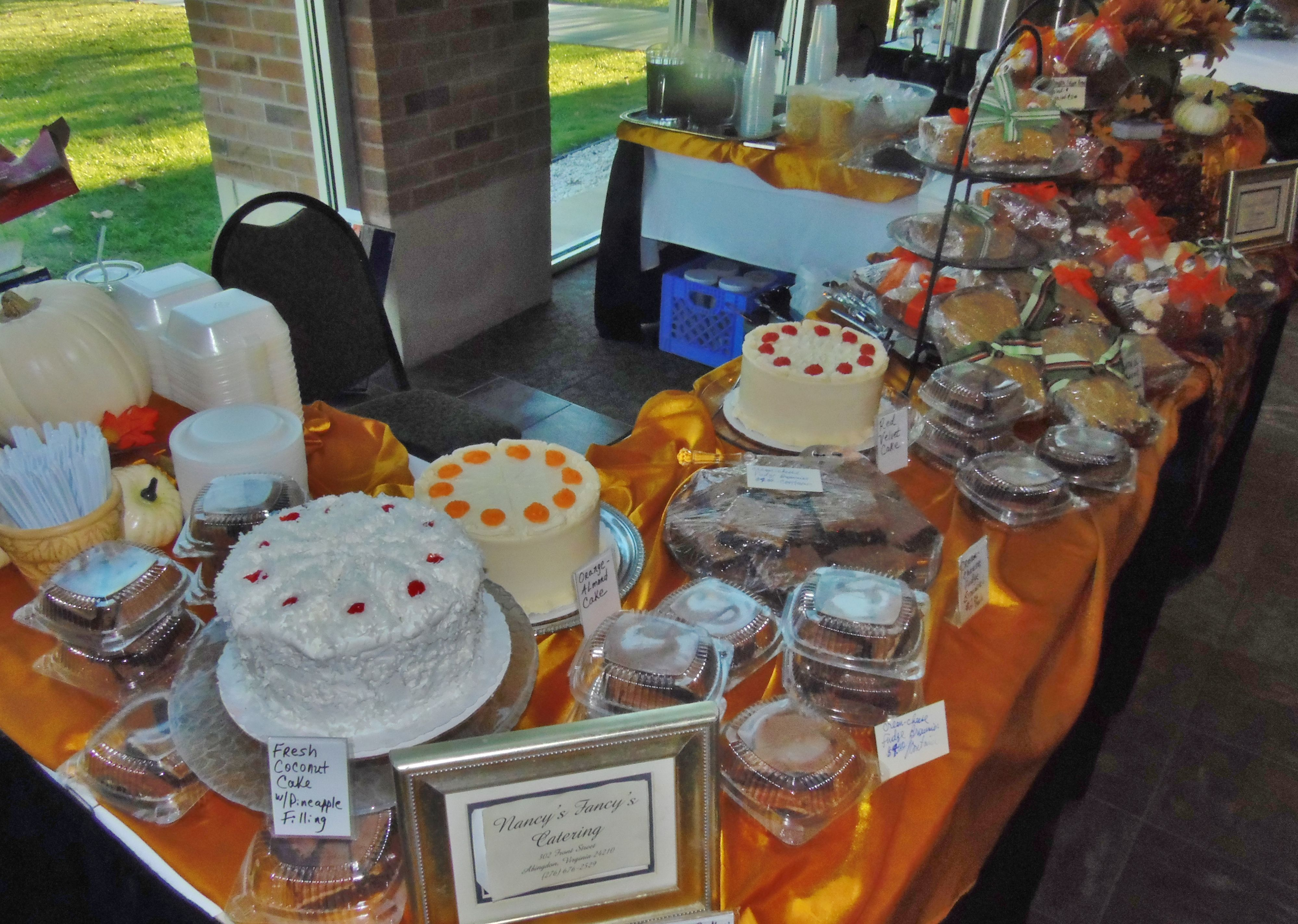 Here's another view of our vending table at the Taste of Home cooking show with all out homemade desserts we sold~