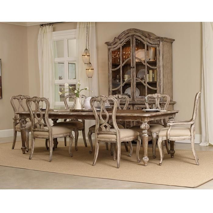8 Piece Chatelet Dining Set And China Cabinet