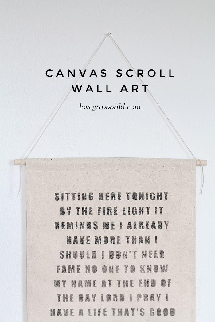 Canvas Scroll Wall Art Scroll Wall Art Canvas Quotes Diy Diy Canvas Art