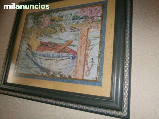 cuadros punto de cruz hechos a mano son de pintores,hilos DMC,tela ...